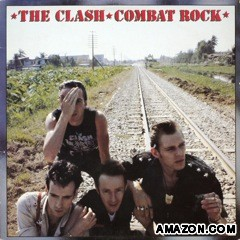 The cover of Combat Rock, which shows the band standing on railway tracks outside Bangkok