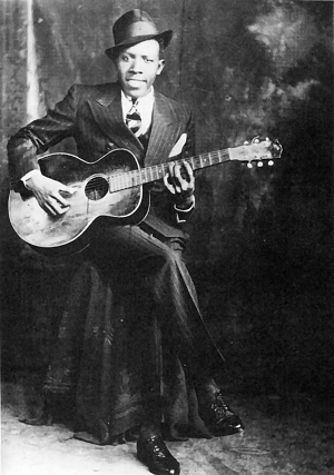 Pic of bluesman Robert Johnson