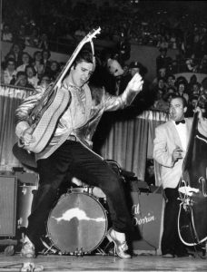 Photo of Elvis Presley, a key influence on rock and even black metal