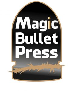 The logo for Magic Bullet Press which published On the Night Joey Ramone Died.