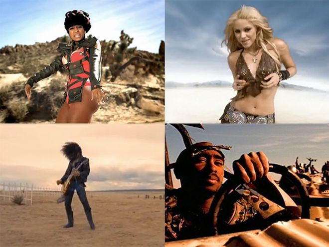 music videos set in the desert