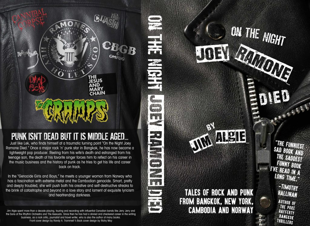 Cover of the new Jim Algie book featuring Joe Strummer