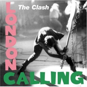 The cover of London Calling, starring Joe Strummer