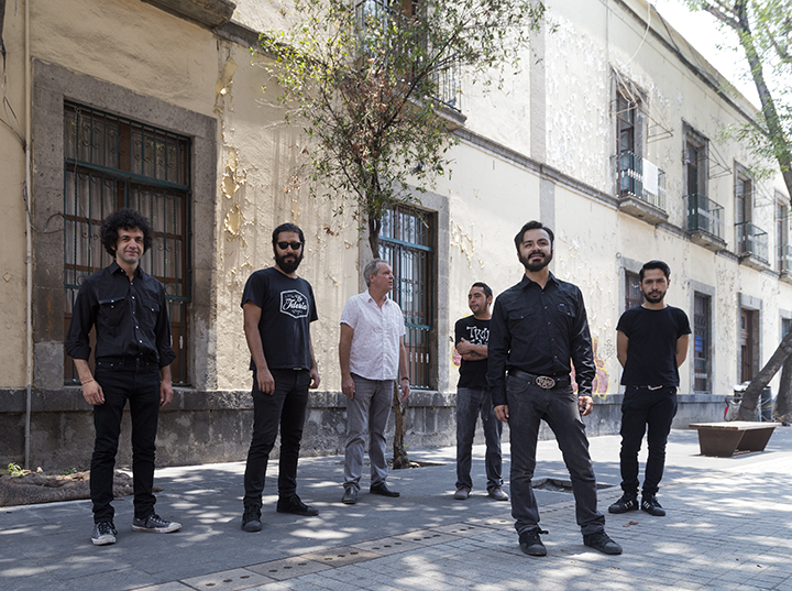 Singer Dan Stuart with Mexican bandmates.