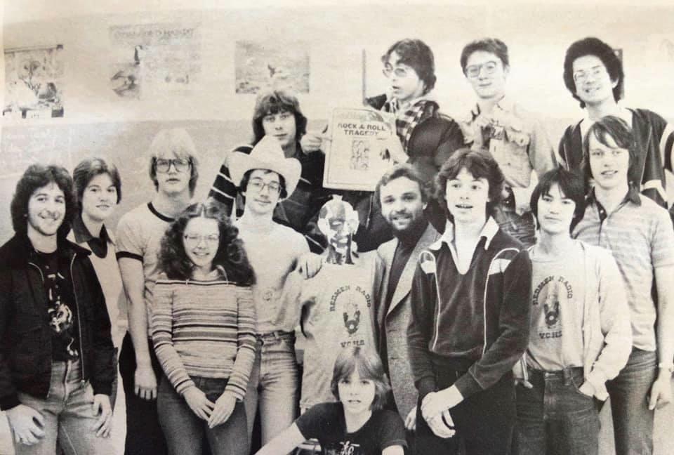 Members of high school radio club