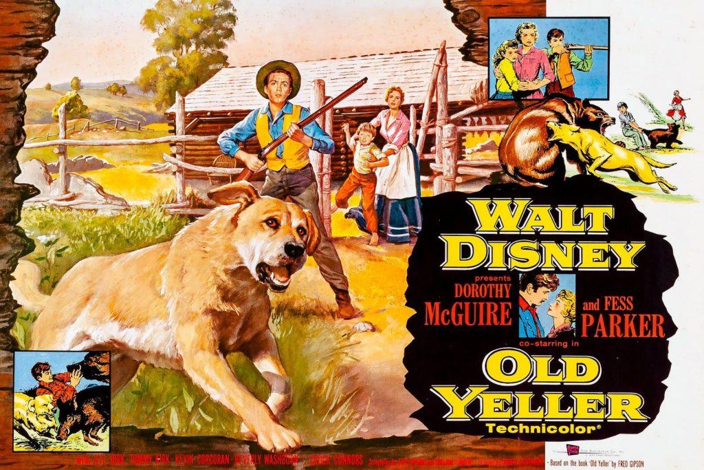 Disney movie poster for Old Yeller