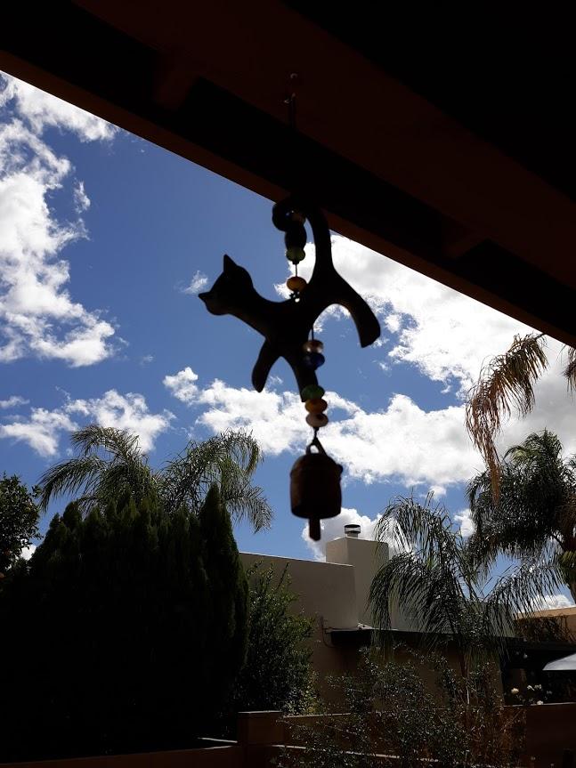 Memorial wind chime of cat